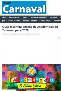 Do RevistaCarnaval, em São Paulo 07/09/2019 16h36